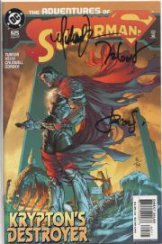 Adventures Of Superman #625 Dynamic Forces Signed x3 Michael Turner DF COA #3 DC comic book